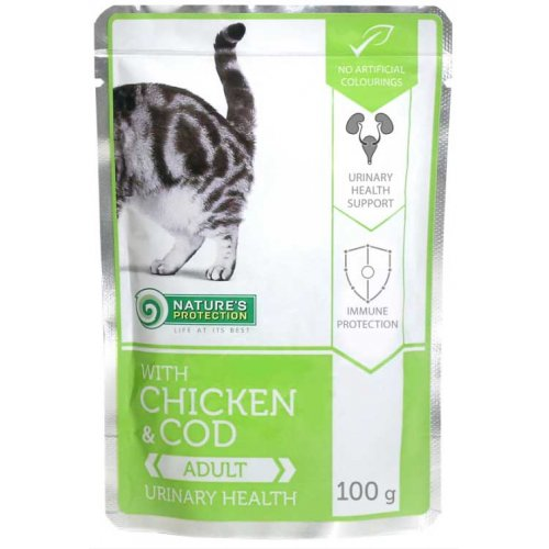 Natures Protection Urinary Health Chicken and Cod - консервы Нейчерс Протекшн для кошек