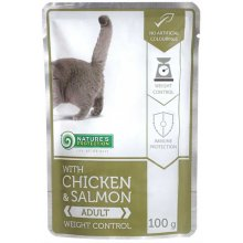 Natures Protection Weight Control Chicken and Salmon - консервы Нейчерс Протекшн для кошек