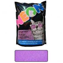 Neon Litter Clump - комкующийся кварцевый наполнитель Неон, фиолетовый