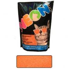 Neon Litter Clump - комкующийся кварцевый наполнитель Неон, оранжевый