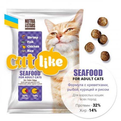Cat Like Seafood - корм Кет Лайк для взрослых кошек всех пород
