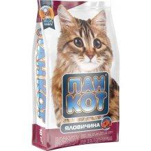 Пан Кот - корм с говядиной для здоровья глаз и сердца для кошек