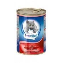 PreVital - консервы ПреВитал с говядиной и печенью в желе для кошек