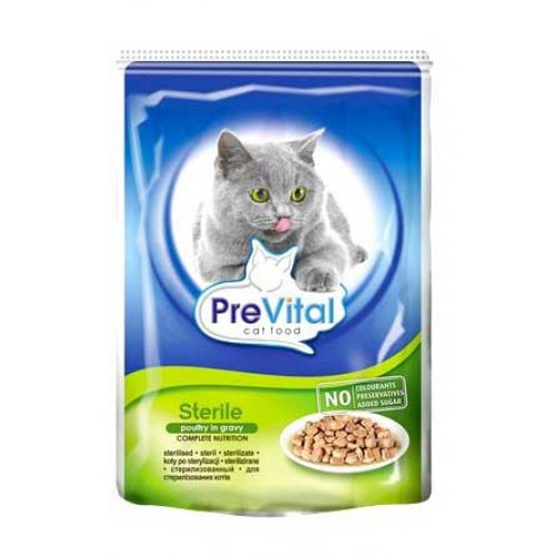 PreVital - консервы ПреВитал с птицей для стерилизованных кошек