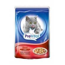 PreVital - консервы ПреВитал с говядиной в желе для кошек