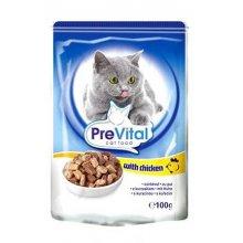 PreVital - консервы ПреВитал с курицей в соусе для кошек