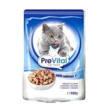 PreVital - консервы ПреВитал с лососем в соусе для кошек