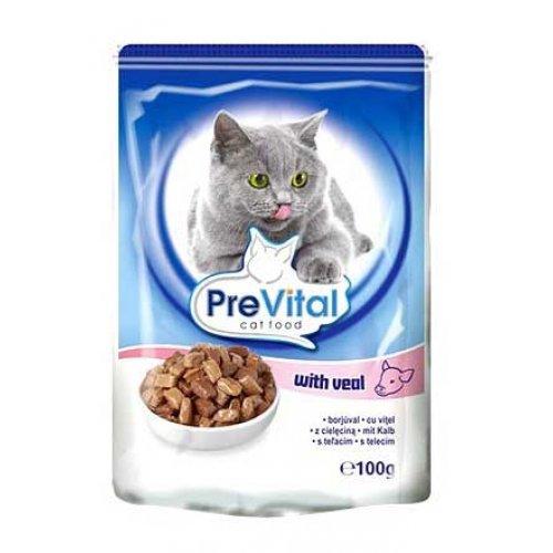 PreVital - консервы ПреВитал с телятиной в соусе для кошек
