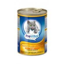 PreVital - консервы ПреВитал с кроликом, птицей и морковью в желе для кошек