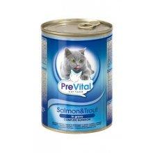 PreVital - консервы ПреВитал с лососем и форелью в соусе для кошек