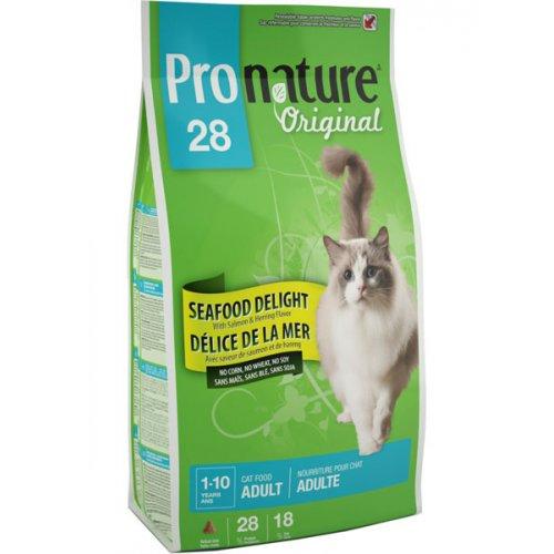 Pronature Original Adult Seafood - корм Пронатюр с рыбой для кошек