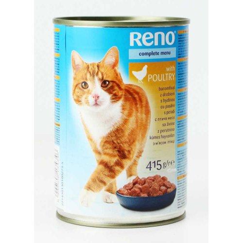 Reno - консервы Рено с птицей для кошек