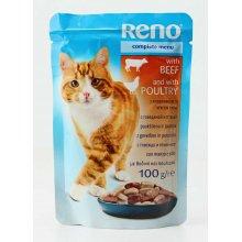 Reno - консервы Рено говядина и птица в соусе для кошек, пауч