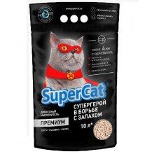 Super Cat - древесный наполнитель Супер Кет Премиум для кошачьего туалета