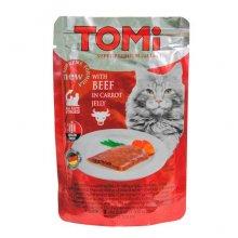 TOMi - консервы ТОМи с говядиной в морковном желе для кошек