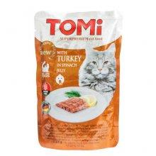 TOMi - консервы ТОМи с индейкой в шпинатном желе для кошек