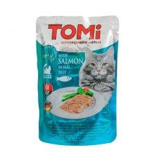 TOMi - консервы ТОМи с лососем в яичном желе для кошек