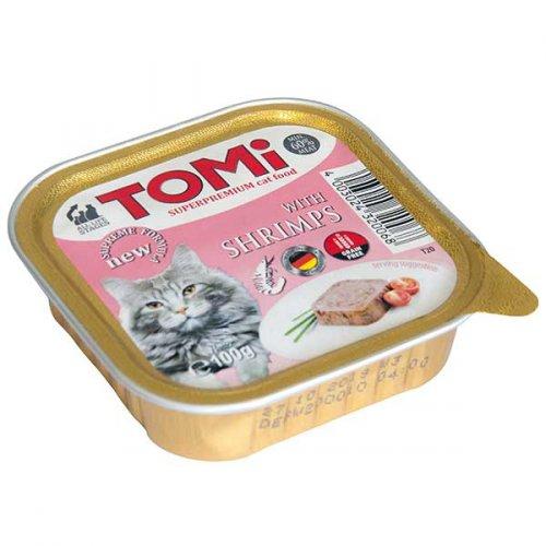 TOMi - паштет ТОМи с креветками для кошек