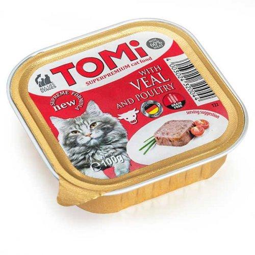 TOMi - паштет ТОМи с телятиной и птицей для кошек