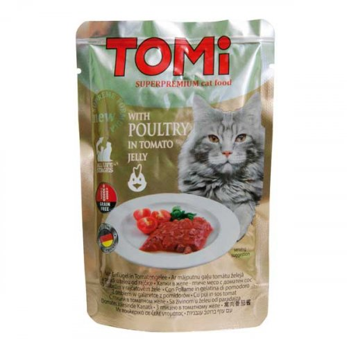 TOMi - консервы ТОМи с птицей в томатном желе для кошек
