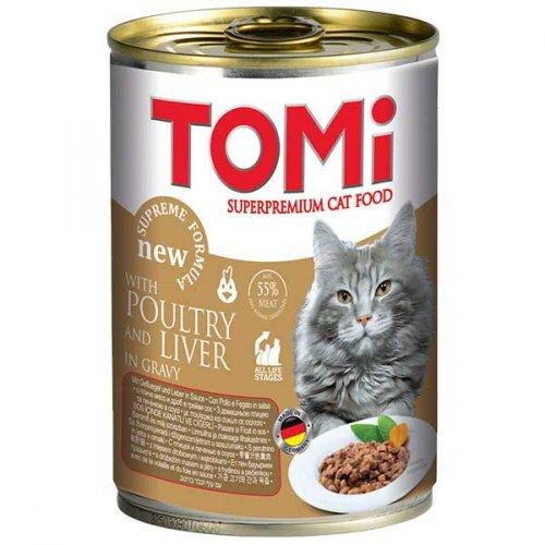 TOMi - консервы ТОМи с птицей и печенью для кошек