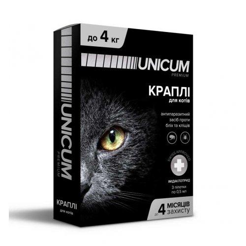 Unicum - капли от блох, клещей и вшей Уникум для кошек