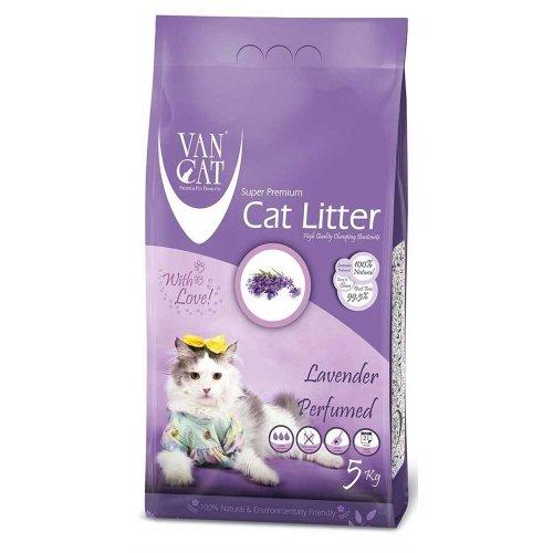 Van Cat Lavender - комкующийся наполнитель Ван Кет с ароматом лавады