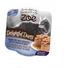 Zoe Delightful Duets Pate - паштет Зои с курицей и кусочками курицы в соусе для кошек