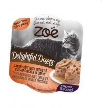 Zoe Delightful Duets Pate - паштет Зои с индейкой и кусочками курицы в соусе для кошек