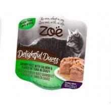 Zoe Delightful Duets Pate - паштет Зои с лосося и кусочками тунца в соусе для кошек