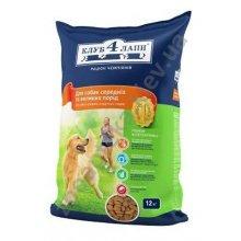 Клуб 4 Лапы корм для взрослых собак средних и крупных пород