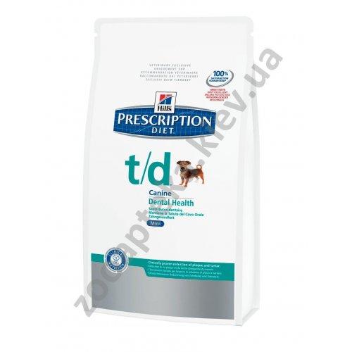 Hills Prescription Diet Canine t/d mini - диетический корм Хиллс для собак t/d мини