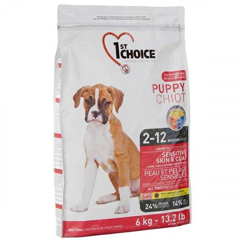 1-st Choice Puppy Sensitive Skin Coat - корм Фест Чойс для щенков с чувствительной кожей и шерстью