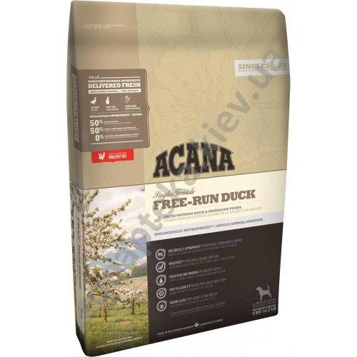 Acana Free-Run Duck - корм Акана для щенков и взрослых собак
