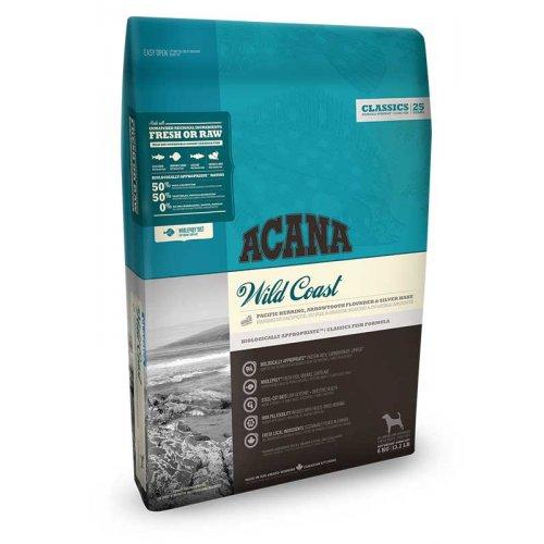 Acana Wild Coast Dog - корм Акана с рыбой для собак всех пород