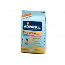 Advance Mini Sensitive - корм Эдванс для собак мелких пород с чувствительным пищеварением