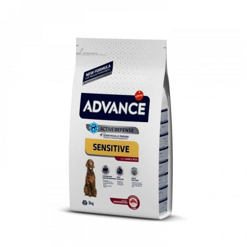 Advance Sensitive Lamb and Rice - корм Эдванс с ягненком и рисом для собак всех пород