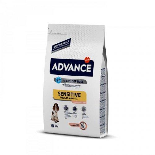 Advance Sensitive Salmon - корм Эдванс с лососем для чувствительных собак средних и крупных пород