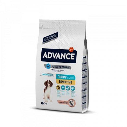 Advance Puppy Sensitive - корм Эдванс с лососем и рисом для щенков