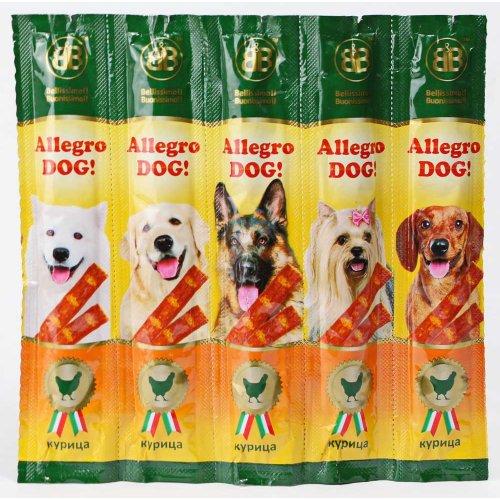 Allegro Dog - мясные колбаски Аллегро Дог с курицей для собак