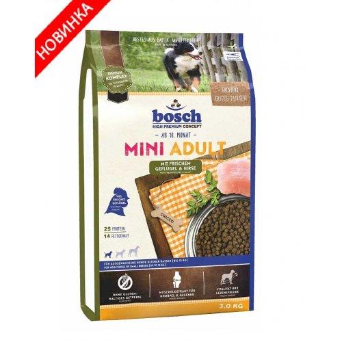 Bosch Adult Mini Poultry Spelt - корм Бош для взрослых собак маленьких пород с птицей и зерновыми