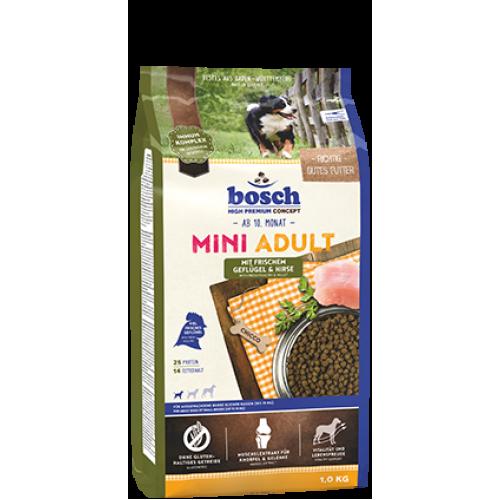 Bosch Adult Mini Poultry and Spelt - корм Бош для взрослых собак мелких пород с птицей и зерновыми