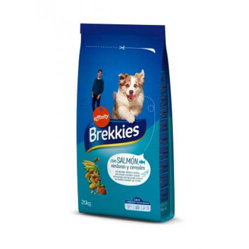 Brekkies Excel Mix Salmon Vegitables - корм Брекис для взрослых собак с рыбой и овощами