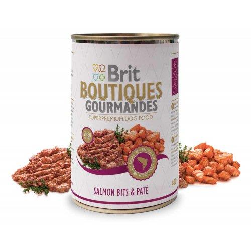 Brit Boutiques Gourmandes - корм Брит кусочки лосося в паштете для собак