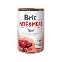 Brit Pate and Meat Beef - корм Брит кусочки говядины и индейки в паштете для собак