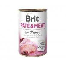 Brit Pate and Meat for Puppy - корм Брит кусочки курицы и индейки в паштете для щенков