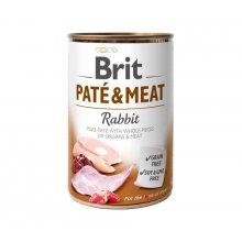 Brit Pate and Meat Rabbit - корм Брит кусочки кролика и курицы в паштете для собак