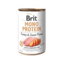Brit Mono Protein - консервы Брит Моно Протеин с индейкой и бататом для собак