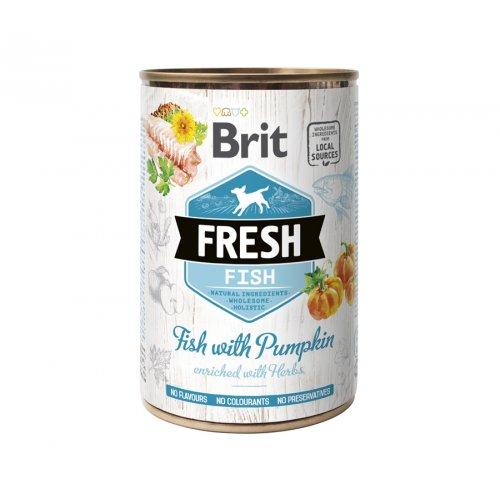 Brit Fresh Fish & Pumpkin - консервы Брит с рыбой и тыквой для собак