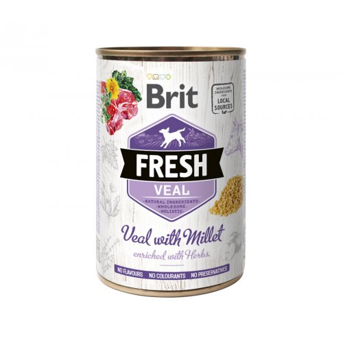 Brit Fresh Veal & Millet - консервы Брит с телятиной и пшеном для собак